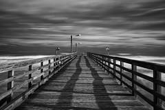Texan coast in black and white (Rjianis) Tags: blackwhite blackandwhite bw texas coast jetty pier usa travel traveling fall autumn clouds cloudporn wanderlust eos 6d canonistas canon eos6d