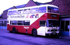 Slide 125-43 (Steve Guess) Tags: wakefield west yorkshire england gb uk bus station westriding leyland olympian a585nwx yorkshirewoollendistrict dewsbury