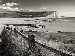 Cuckmere Haven and the Seven Sisters (Jon Fitton) Tags: chalk england sussex cloud southdowns sky places sevensisters cliff lightroom sea seaford unitedkingdom gb