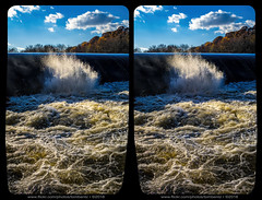 Angry River (Stereo) (Tom.Bentz) Tags: stereo 3d crossview river water splash nature
