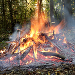 Ashes are burning. thumbnail