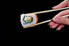 California Sushi roll keeps in chopsticks girl (wuestenigel) Tags: raw asian ginger seafood sauce fish background roll healthy eat wasabi dinner philadelphia sushi seaweed fresh japanese pickled food salmon cuisine diet rice menu set meal soy gourmet traditional reis seetang fisch lachs sashimi meeresfrüchte lebensmittel abendessen maki tuna thunfisch rolling rollen caviar kaviar lunch mittagessen nori wollen mahlzeit noperson keineperson shrimp garnele traditionell