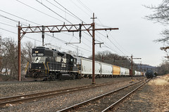 H Zero 2 (sullivan1985) Tags: train railroad railway locomotive newjersey northjersey nj morriscounty emd freighttrain freight h02 norfolksouthern ns ns5403 gp382 electrified catenary yard eastbound dover hobokendivision morristownline harrisburgdivision