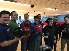 Seminarians with Sr. Josephine after Friday night bowling! 11/16/18