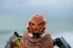 Pohatu: - Approaching the Island. (Working hard for high quality.) Tags: lego bionicle cloud landscape sky clear photography toy
