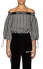 Palm Angels Logo Gingham Off-The-Shoulder Top (katalaynet) Tags: follow happy me fun photooftheday beautiful love friends