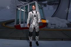 need a lift (ɢɛȶ ʟʊƈкʏ Model/Performer) Tags: signature gianni represent essential turtleneck turtle neck white metallic bib pants overalls coveralls shiny space suit ski skiing astronaut vale koer v3 trainers thermal socks group gift mistle toe lodge resort estate winter snow silver sky lift skyrail downhill down hill mountains stealthic narcotic brown catwa