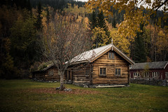 Centuries of logs (Norwegian Outdoors) Tags: building buildings cabin log logcabin nature fall autumn colors vibrant norway norge outside outdoors photography outdoorphotography landscape landscapephotography landscapes trees forest woods travel tourism tourist
