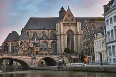 Saint Michael's Church, Ghent (Naval S) Tags: ic40201 belgium ghent church michaelskirche gothic colorful sky