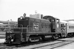 Boston & Maine SW1 #1111 at Boston, MA (Houghton's RailImages) Tags: bm bostonmaine sw1 boston diesel locomotive railroad bw trains locomotives massachusetts usa