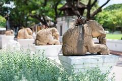 Elephant calf flower pot (SLpixeLS) Tags: thailand dara devi hotel chiangmai elephantcalf statue