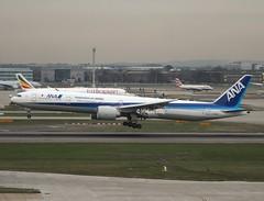 All Nippon Airways                                                        Boeing 777                                       JA790A (Flame1958) Tags: allnipponairways ana allnipponairwaysb777 anab777 boeing777 boeing b777 777 ja790a londonheathrow heathrowairport heathrow lhr egll 041218 1218 2018 travel vacation holiday airport aeroplane aircraft 3937