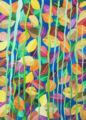 Watercolor Painting (Imara U.) Tags: painting pintura colorful colors color colorido cores cor aquarela art arte artista artist abstract estampa pattern patterns estampas watercolor watercolors nature natureza tropical finearts work inspirations