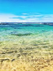 Water. (Seymour Lu) Tags: water blue clear crystal liquid beach beaches vacation travel traveling paradise adventure relaxation kauai hawaii usa ocean waves sea iphone apple ios aqua simple