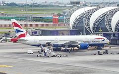 British Airways G-YMMA Boeing 777-200(ER) (Kan_Rattaphol) Tags: aircraft airplane airlines bkk vtbs britishairways ba boeing b777 b777200er gymma