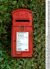 """Rural Letter Box 01 (hoffman) Tags: antique british britishisles castiron collection countryside daylight ec eec england english eu europe europeanunion gpo greatbritain ivy letterbox old outdoors postal red royalmail rural uk unitedkingdom vertical vintage 181112patchingsetforimagerights davidhoffman wwwhoffmanphotoscom kent davidhoffmanphotolibrary socialissues reportage stockphotos""""stock photostock photography"""" stockphotographs""""documentarywwwhoffmanphotoscom copyright"""