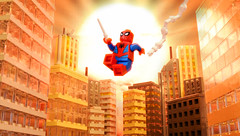 Sunset Over Second Avenue (Andrew Cookston) Tags: lego marvel comics spiderman peterparker newyork city nyc nycwallcrawler superhero custom moc red yellow blue orange forced perspective macro toy still life photography andrew cookston andrewcookston