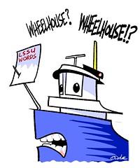 wheelhouse (DSL art and photos) Tags: donlee cartoon wheelhouse lakefreighter greatlakes lakesuperiorstateuniversity michigan yoopers upperpeninsula english bannedwordlist
