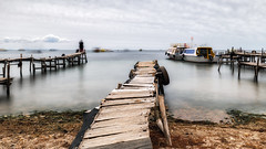 Stand still for a minute (Chas56) Tags: ngc travel longexposure copacabana bolivia southamerica canon canon5dmkiii landscape seascape lake water boats ndfilter pier jetty