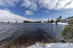 Snow No 2.    Explore 4.2.19 (Jo Evans1) Tags: snow brecon reservoir blue skies beautiful excited