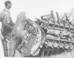 air mail image (San Diego Air & Space Museum Archives) Tags: wreckage planecrash libertyengine liberty12 libertyl12 dh4 dehavillanddh4