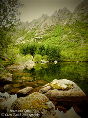Peace and Quiet (liamearth) Tags: djupfjordvatnet earth shore sky mountain sceneic wilderness beautiful sea view outdoor water western landscape wild lofoten norway arctic circle traveling real life camping serene mountainside still clear texture contrast bay colour rock field lake river tree garden rocks animal clouds coast road seascape austvågøy svolvær ocean beach sand islands stamsund henningsvær cliff straumen gimsøy grass reflection wood forest