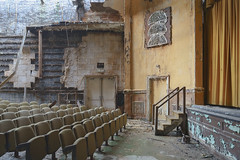 ...front row seating... (Art in Entropy) Tags: abandoned urbex photography urban decay grime theater creepy stage explore exploration adventure curtain call sony