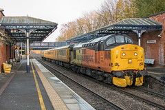 Colas Rail Freight Class 37 37175 (Barry Duffin) Tags: train railway locomotive station colas class37 37175 1z37 melton tonbridge derbyrtc derby nikon d500 35mm testtrain