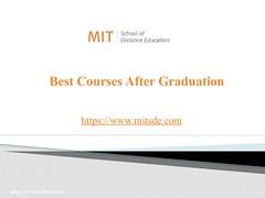 Best Courses After Graduation | Post Graduate Courses | PG Diploma Courses (mitsdeonlineeducation) Tags: best courses graduation diploma mitsde career opportunities