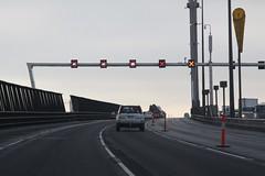 Closed lanes on the West Gate Bridge (Marcus Wong from Geelong) Tags: westgatebridge bridge road freeway melbourne spotswood yarrariver fishermansbend boxgirder m1 cablestayed cablestayedbridge loweryarracrossing portmelbourne