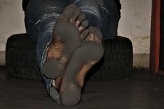 dirty feet - indoor 736 (dirtyfeet6811) Tags: feet soles barefoot dirtyfeet dirtysoles blacksoles