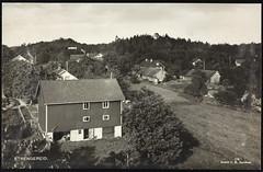 Postkort fra Agder (Avtrykket) Tags: bolighus eng hus postkort skog uthus vegetasjon tvedestrand austagder norway nor