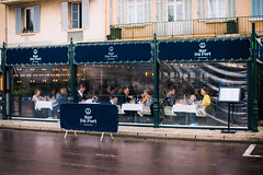 Behind plastic it's fantastic (Nuuttipukki) Tags: bar restaurant saint tropez du port southern france südfrankreich street plastic luxury expensive
