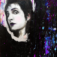 Siouxsie Sioux Oil Painting (brittanyzamo) Tags: oil painting fluidpainting oilpainting siouxsie sioux goth canvas surrealism impressionism realism abstract expressionism portrait portraiture