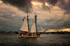 Turbulence (Tim Pohlhaus) Tags: sultana racing schooner sailing fells point baltimore harbor maryland sky water boat gcbsr cbf