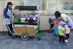 Japan: Kyoto, little people mover (Henk Binnendijk) Tags: japan street kyoto people candid toddlers children daycare babies women work explore