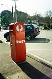 Australia Post (Matthew Paul Argall) Tags: canonsnappy20 fixedfocus 35mmfilm kodakultramax400 kodak400 ultramax 400isofilm postbox mailbox red 2018 2010s