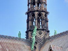 Careful now! (Digidoc2) Tags: steeple spire notredame statues architecture iconic roof religious ancient church old historic urban city landmark cathedral