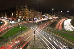 Glasgow Traffic Trails (Raphooey) Tags: gb uk scotland glasgow central belt road roads motorway m8 car cars traffic trail trails light lights canon eos 6d mark mk ii 2 walkway