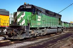 BN SD45 6485 (chuckzeiler50) Tags: bn sd45 6485 railroad emd locomotive clyde train chuckzeiler chz