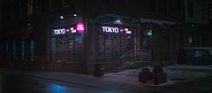 Tokyo cafe. (igor.relsov) Tags: shots cineminer nightphotography lamp car cars streets mystic cinematography street streetphotography night light cinematic cinema strange evening photography