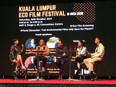 Incredible discussion on how producing environmental films can save a planet. #iGEM2018 #environmentalfilms