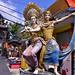 Decorative Hindu figures outside the Tanah Lot shore temple
