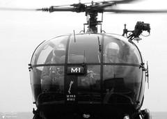 1812 / SE 316 B - Alouette III (Laurent Quérité) Tags: canonfrance canonae1 noirblanc blackwhite helicoptere aviation aéronef aéronavale aéronautiquenavale belgiannavy militaryaircraft