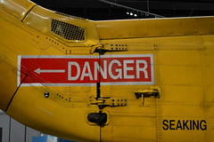 Saving Is Dangerous (dhcomet) Tags: raf museum hendon colindale north london planes military heritage history technology search rescue danger yellow seaking arrow
