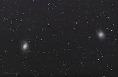 Galaxies Messier 95 (à droite) et 96 (à gauche) dans la constellation du Lion. (bernardparis33) Tags: astrometrydotnet:id=nova3157528 astrometrydotnet:status=solved