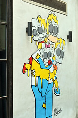The Simpsons   Hong Kong (香港), China (Ping Timeout) Tags: hong kong hongkong china sar 香港 island south special administrative region people's republic prc territory december 2018 vacation holiday trip 香港特區 香港特区 graffiti street public art paint cartoon photography painting wall central simpsons holmer bart skeleton fun unique blue yellow color colour character drawing baby mural homer lisa marge fox studios animated sitcom family outdoor city urban