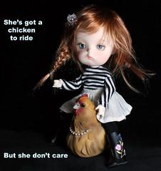 Ridin' high (bentwhisker) Tags: doll bjd resin secretdoll mongvol3 aimerai bellinathehen chicken 5514