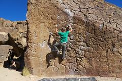 Careful (andrickthistlebottom) Tags: climbing bouldering rock bishop california sierranevada california2018