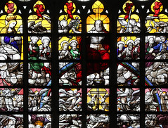 All Shall See Him (Lawrence OP) Tags: stainedglass medieval brussels cathedral lastjudgement apostles angels souls blessedvirginmary power majesty parousia cross triumph